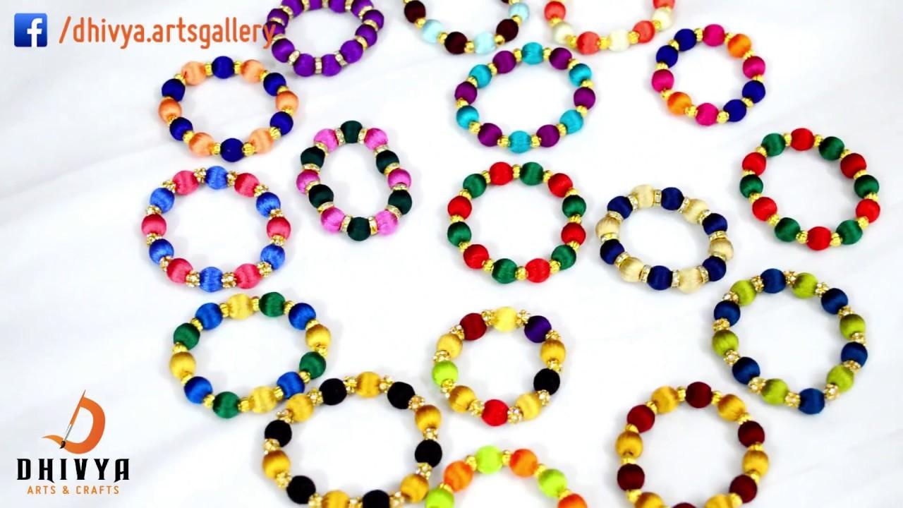 How To Make Designer Bracelet At Home Friendship Bracelets Kids Jewelry Diy Silk Thread