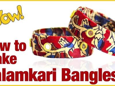 How to make kalamkari bangles in 10 min | how to make designer Fabric Bangles making | DIY