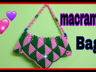 How to make macrame samosa bag (समोसा बैग).