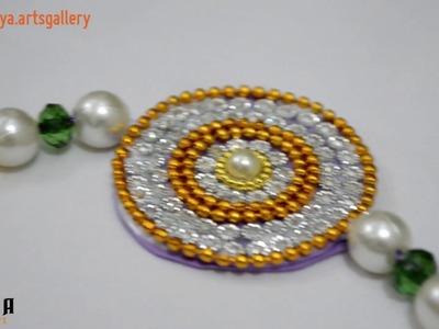 How to make rakhi at home | Raksha bandhan | Rakhi making with silk thread | easy rakhi | DIY