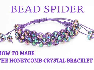 How To Make The Macramé Honeycomb Crystal Bracelet