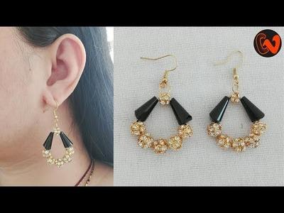 How to make Trendy Earrings. Beaded Earrings Tutorial