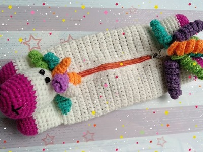 Part 3 | How to Crochet a Unicorn Purse with Zipper and Lining