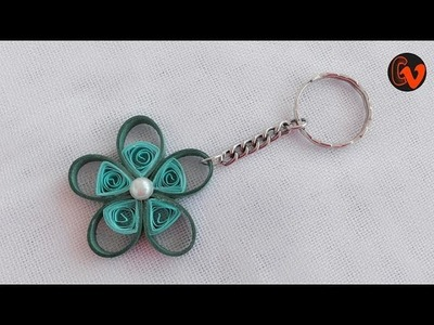 Quilling Keychain. How to make Paper Quilling Keychain