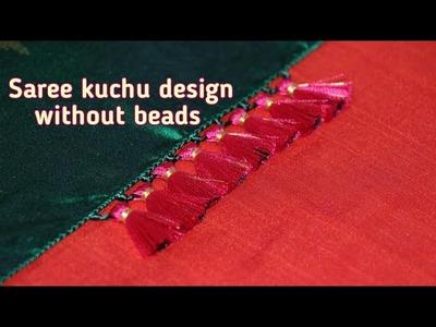 Saree kuchu design without beads 1. How to make saree kuchu