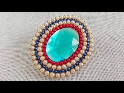 Saree Pin. How to make Saree Brooch. Tutorial