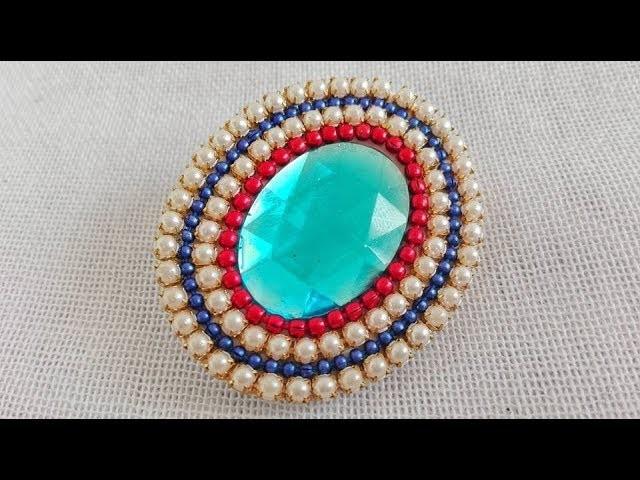 Saree Pin. How to make Saree Brooch. Tutorial