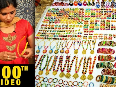 Special 100th videos | Mega Jewelry Collection | Necklaces Bangles Earring Factory | DIY | How to