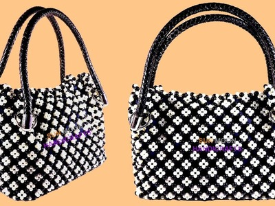 পুতির হ্যান্ডব্যাগ.How to make Beaded Bag(part-1).beaded hand bag.putir hand bag.beaded bag making