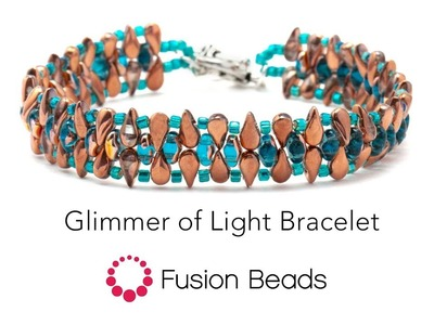 Watch how to make the Glimmers of Light Bracelet by Fusion Beads
