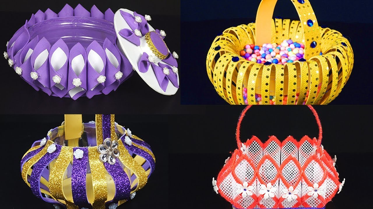 10 DIY Baskets That You Never Seen Before   How to Make Foam Baskets - Step By Step Tutorials