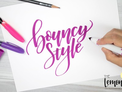 BOUNCY LETTERING - An Easy Tutorial on How To do Bouncy Calligraphy Style