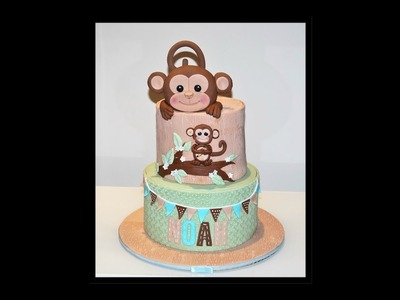 Cake decorating tutorials | how to make a MONKEY CAKE | Sugarella Sweets