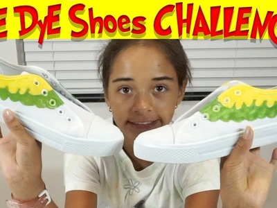 Diy TIE DYE SHOES CHALLENGE! How To Tie Dye Shoes Do It Yourself with Sarah!