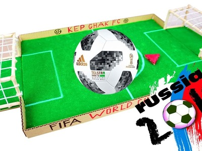 DIY WORLD CUP 2018 - How To Make FIFA Football Board Game from Cardboard