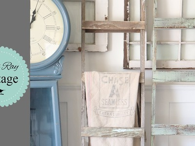 How To Build A Chippy Two Tone  Vintage Ladder From Salvage