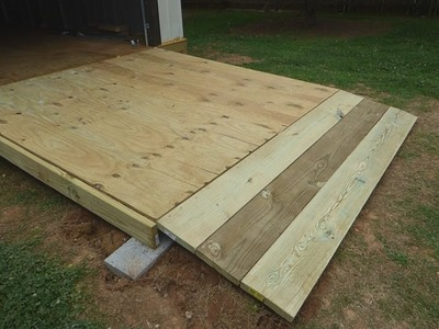 How to Build a Large, Simple Wooden Shed.Garage Ramp