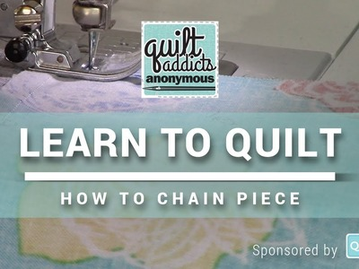 How to Chain Piece Quilt Blocks - FREE Beginner Quilting Videos and Pattern