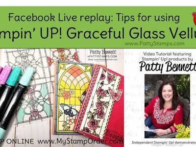 How to color and adhere Graceful Glass Vellum from Stampin' UP!