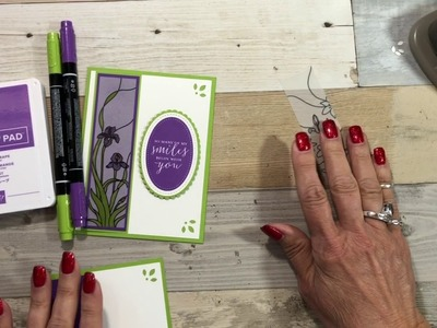 How to Color and Use Vellum for a Handmade Card