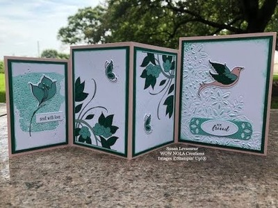 How to Create a Stampin' UP! Serene Garden Four Panel Card