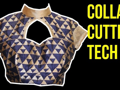 How to cut the coller for the blouse