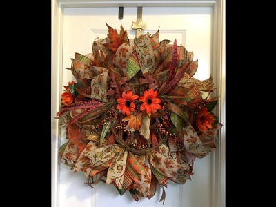 How to make a 30in ruffle wreath with an owl from Trendytree