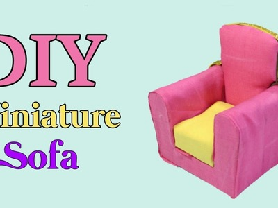 How To Make A Miniature Sofa | Best Out Of Waste | Waste Material Craft | Cardboard Craft Idea