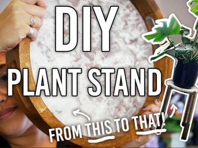 How to Make a Plant Stand - DIY - Thrifted Re-do