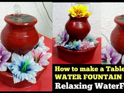 How to make a Tabletop WATER FOUNTAIN. Relaxing WaterFall | 2 min Craft