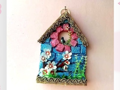 How to make a Wall Hanging at home. best out of waste