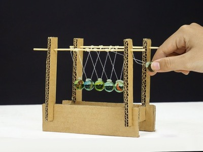 How To Make Amazing Newton's Cradle from Cardboard