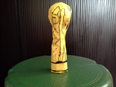How to make an easy paper world cup trophy. (PAPER HOLDER)