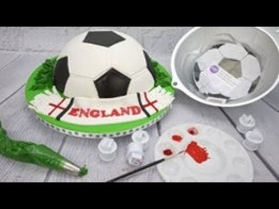 How To Make An Easy World Cup Football.Soccer Cake