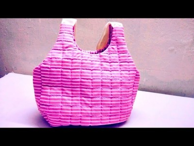 How to make bag.purse vegetable bag.and  for shoping. lugauge.travel bag making in hindi.bolsa