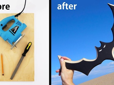 How to Make Batman Boomerang that Flies Perfectly