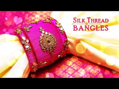 How To Make Beautiful Silk Thread Kundan Bangles | Latest Silk Thread Designs