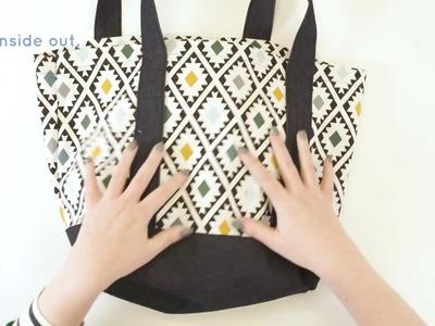 'How To Make' Calico Shopping Bag