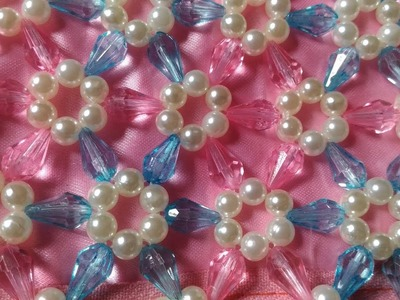 How to make Crystal purse (Crystal Drop beads with pearl).