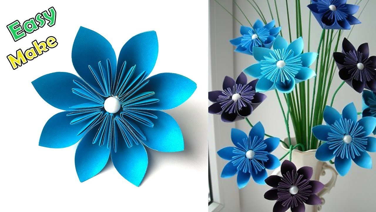 How To Make Easy And Simple Paper Flower Home Decor Easy Paper
