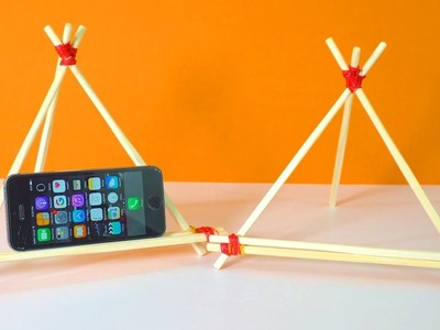 How to Make Mobile Stands at Home | 10 Ways to Make Diy Mobile Stands