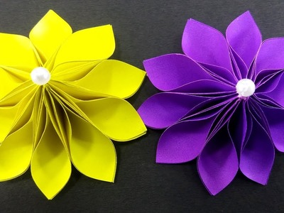 How to Make Simple and Easy Paper Flower : DIY Paper Crafts