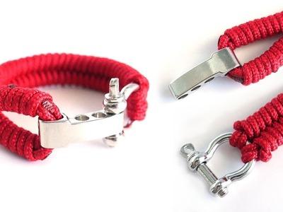 How to Make the SH Fishtail Paracord Bracelet Tutorial   Adjustable Paracord Bracelet