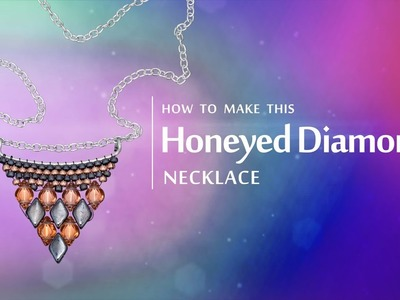 How to make this Honeyed Diamond necklace | Seed Beads design