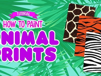 ???? HOW TO PAINT ANIMAL PRINTS | Girl Talk Art ????