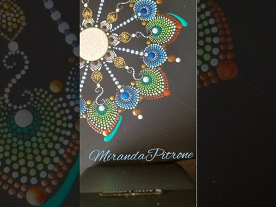 How to paint mandalas - dot art by MirandaPitrone - helpful hints - the longer swipe with tools