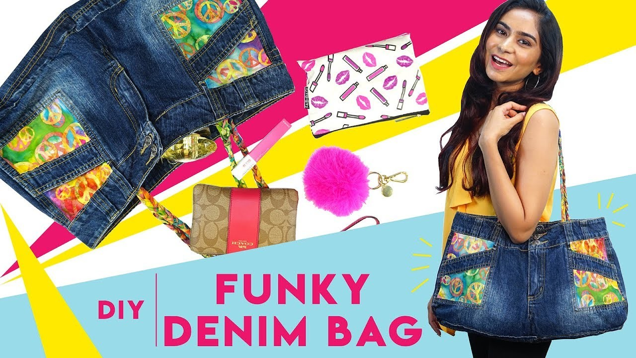 How To Recycle Old Shorts Into A Funky Denim Bag   Hauterfly