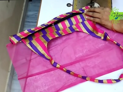 How To Sew New Designer Hand Bag At Home || How To Stitch Hand Bag Yourself At Home || DIY Hand Bag