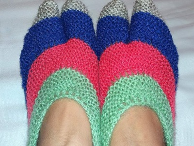 Knitting simple woolen Socks pattern !!