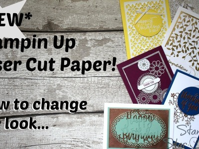 NEW 2018 how to heat emboss with the Stampin Up, Laser cut dsp, new catalogue